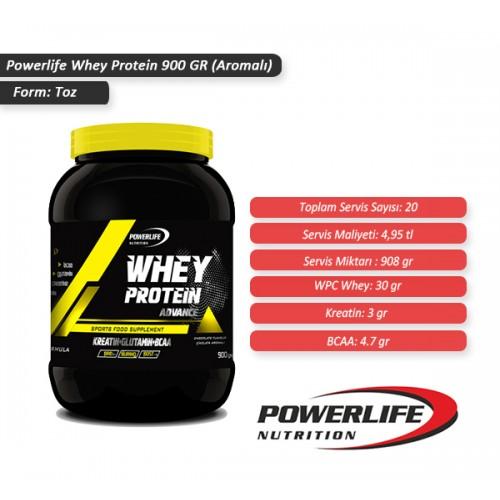 POWERLIFE Whey Protein Tozu 900 GR Aromalı + All in Zero #freshstart 500 ML HEDİYE