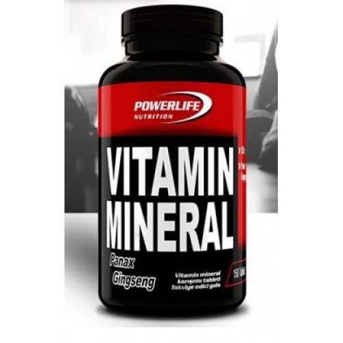 POWERLIFE Vitamin Mineral 150 Tablet Panax Ginseng + All in Zero #freshstart 500 ML HEDİYE