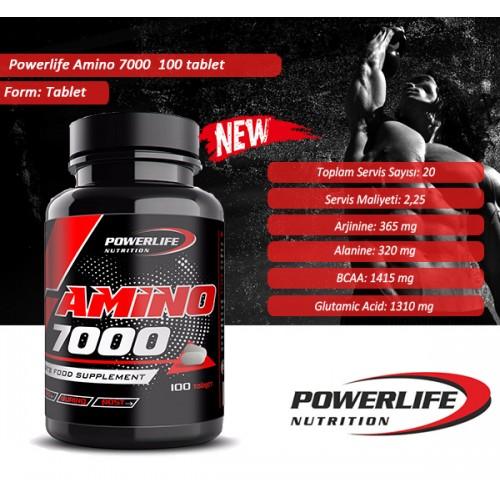 POWERLIFE Amino 7000 - 100 Tablet Amino Asit