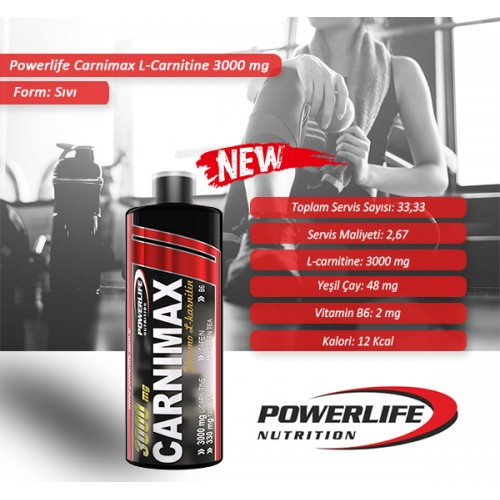 POWERLIFE Carnimax L Carnitine 3000 Mg