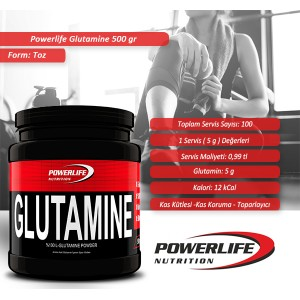POWERLIFE Glutamine 500 gr